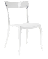Стул Papatya Hera-S белое сиденье, верх прозрачно-чистый, фото 1