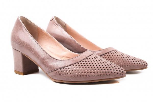 Туфли на каблуке Antares нубук, цвет бежевый