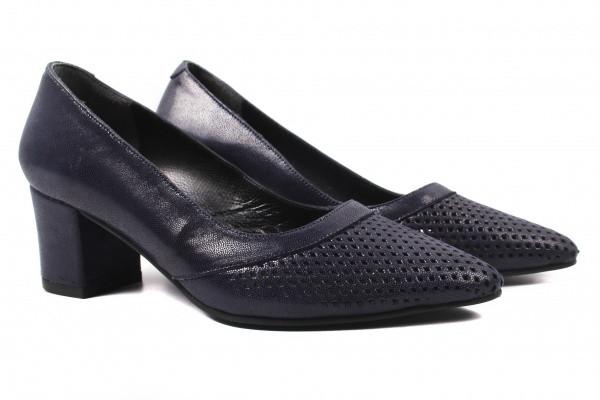 Туфли на каблуке Antares нубук, цвет синий