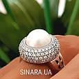 Серебряное кольцо с жемчугом - Кольцо с жемчугом родированное серебро, фото 7