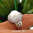 Серебряное кольцо с жемчугом - Кольцо с жемчугом родированное серебро, фото 6