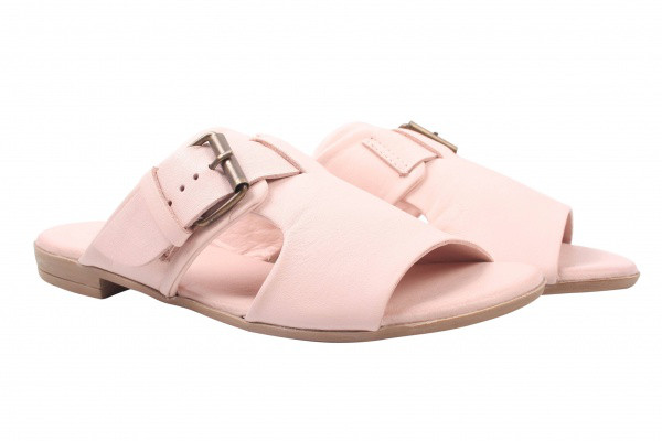Шлепанцы Bueno натуральная кожа, цвет розовый