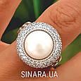 Серебряное кольцо с жемчугом - Кольцо с жемчугом родированное серебро, фото 5