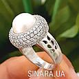 Серебряное кольцо с жемчугом - Кольцо с жемчугом родированное серебро, фото 4