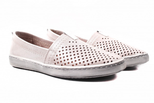 Туфли комфорт Estile натуральный сатин, цвет капучино