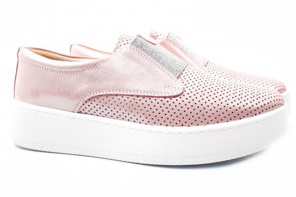 Туфли комфорт Carizma натуральный сатин, цвет розовый