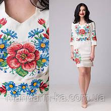 Белое женское платье вышиванка Мальва