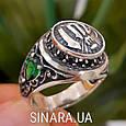 Серебряное мусульманское кольцо Аллах , фото 4