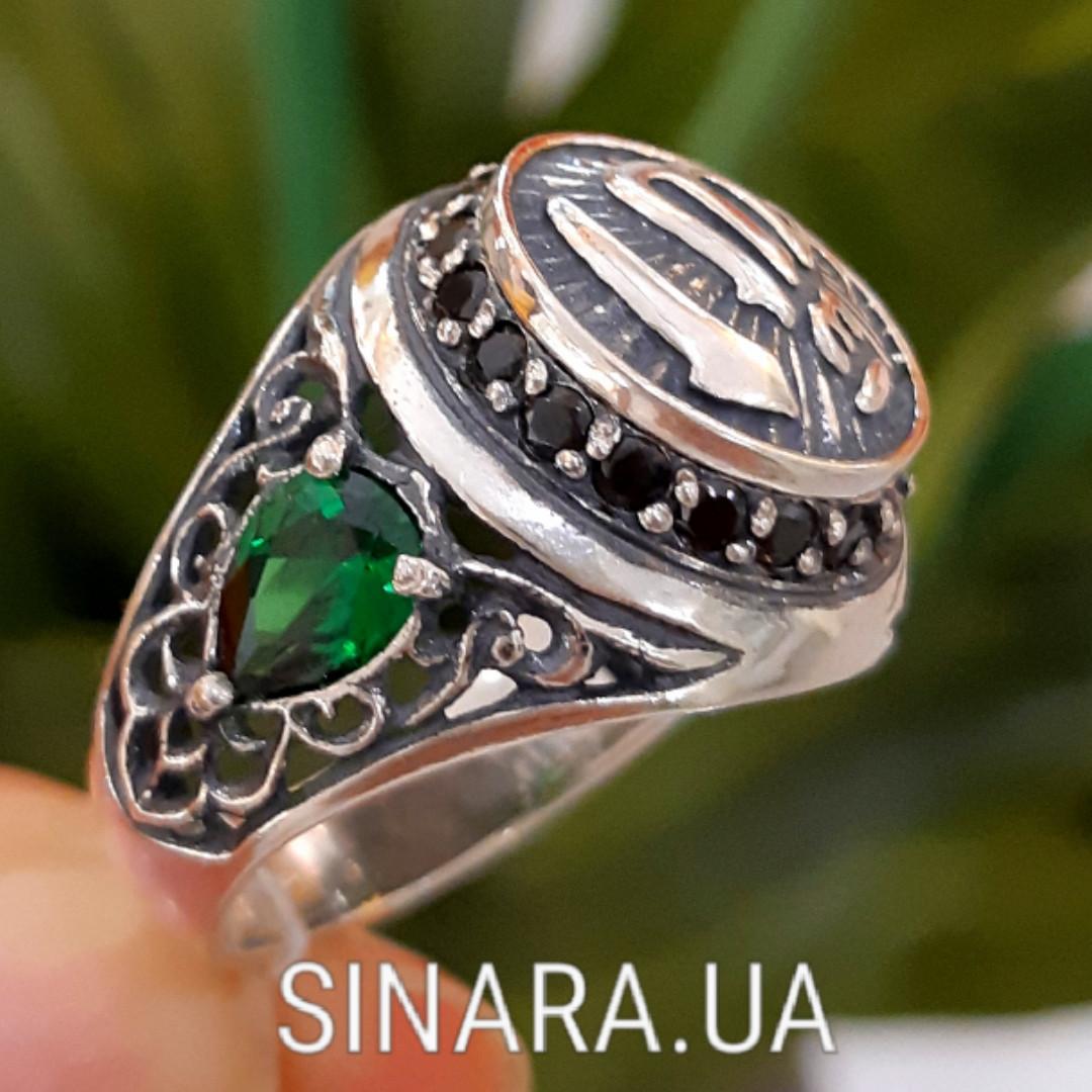 Серебряное мусульманское кольцо Аллах