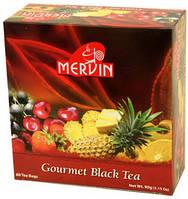 Цейлонський фруктовий чай Mervin Gourmet Black Tea в пакетиках - чорний чай мервін в пакетах60*1,