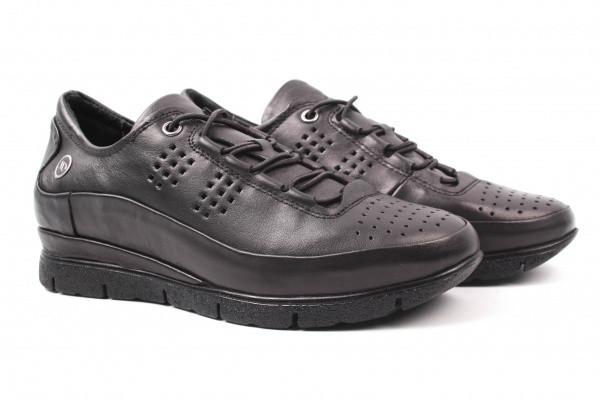 Туфли комфорт Mumin Dulun натуральная кожа, цвет черный