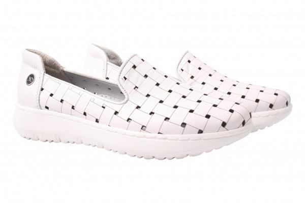 Туфли спорт Mumin Dulun натуральная кожа, цвет белый