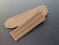 Ремешок для часов HUBLOT Big Bang - коричневый, каучук, резина, фото 1