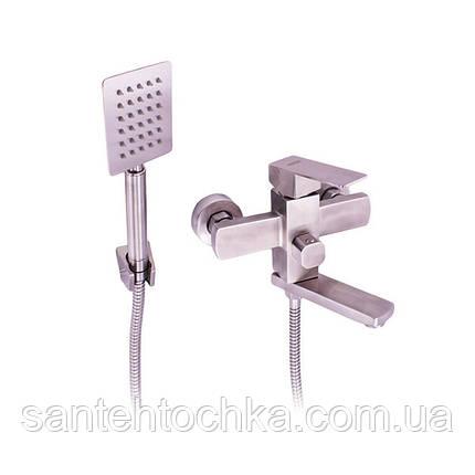 Смесители FLEKO FS513NS для ванны нержавейка, фото 2