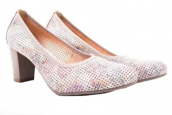Туфли на каблуке Bioecco натуральная замша, цвет комбинированный