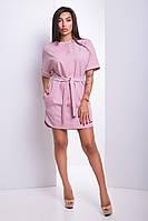 Платье Прага розово-фрезовый