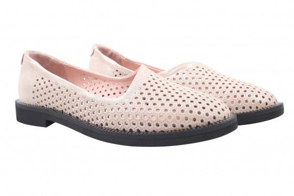 Туфли , балетки женские на низком ходу Missy натуральный сатин, цвет бежевый