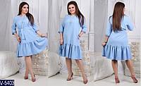 Романтичное платье большого размера  - размеры:(48,50,52);  РОЗНИЦА +30грн; украшение в комплекте, фото 1