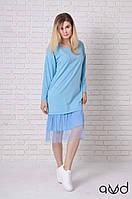 Платье женское прямого силуэта спортивное повседневное  1804 AVD