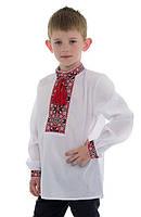 Вышиванка для мальчика с красным орнаментом / вишиванка для хлопчика