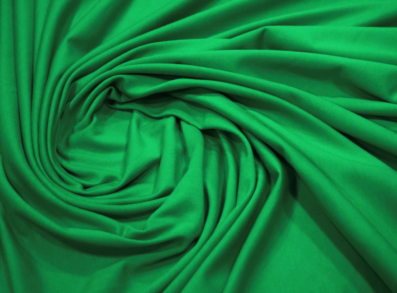 Футер двунитка зеленая (180 см)