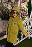 Пальто кашемировое Сова переливающиеся камни для девочки 122-146 внутренняя подкладка пальто утепленная , фото 2