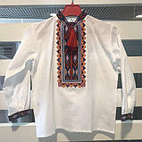 Вышиванка для мальчика на домотканой ткани , фото 5