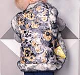 Жилетка детская для девочек Кролик 2-9 лет из овчины с карманами, фото 2