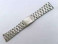 Литой браслет к часам  - нержавейка, цвет стальной, фото 1