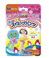 Подгузники-трусики для плавания Goo.N для девочек 7-12 кг, ростом 60-80 см, размер М, 3 шт