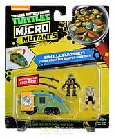 Игровой набор серии Черепашки-Ниндзя Micro Леонардо и Шреддер в фургоне