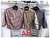 Женская куртка из эко кожи, в расцветках. АР-23-0718, фото 4