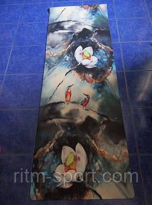 Йога-мат Джутовый двухслойный (на основе армированного каучука), фото 2