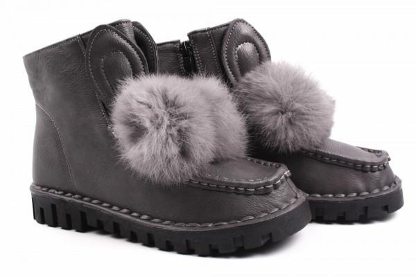 Угги Zoya shoes эко кожа, цвет серый