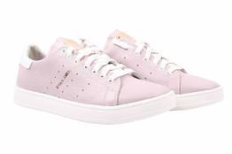 Туфли спорт Adidas натуральная кожа, цвет розовый