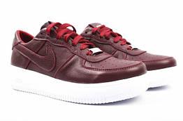 Туфли спорт Nike натуральная кожа, цвет бордо
