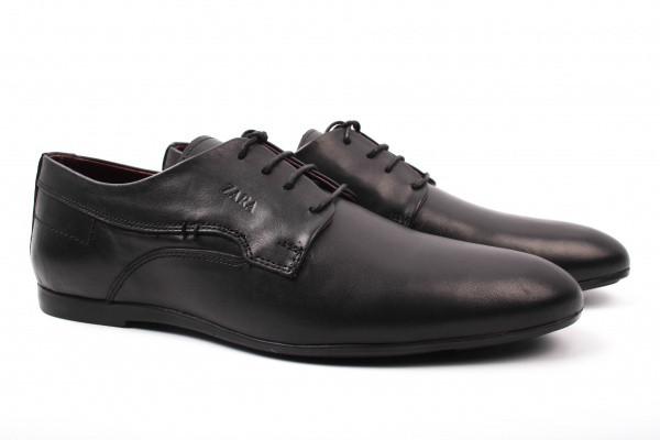 Туфли ZARA натуральная кожа, цвет черный