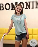 Блуза футболка с коротким рукавом и перфорацией