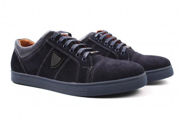 Туфлі комфорт Brionis натуральна замша, колір синій