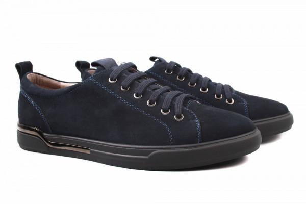 Туфли комфорт Cosottinni натуральная замша, цвет синий