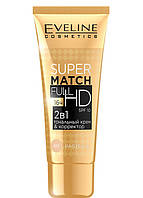 Матирующий тональный крем & корректор Eveline Cosmetics Super Match Full HD тон 60 Pastel