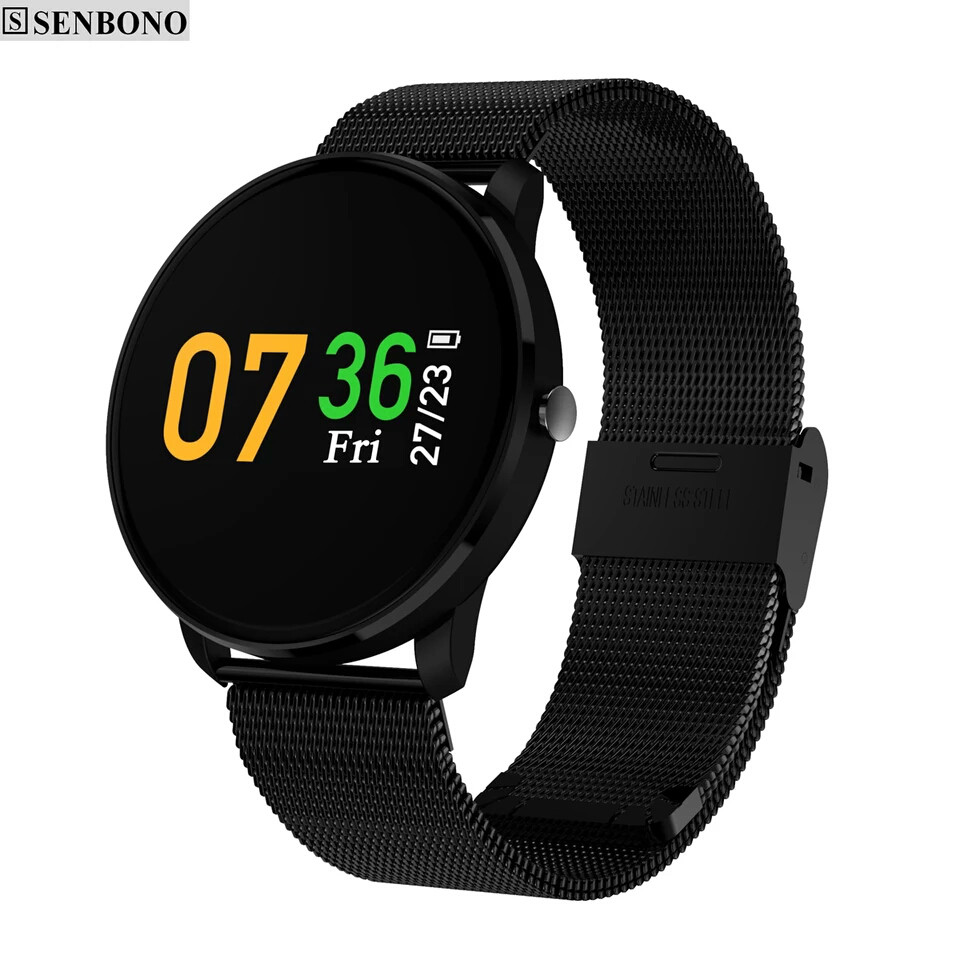 Розумні годинник SENBONO CF007H Black фітнес браслет