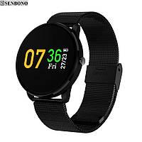 Умные часы SENBONO CF007H Black фитнес браслет