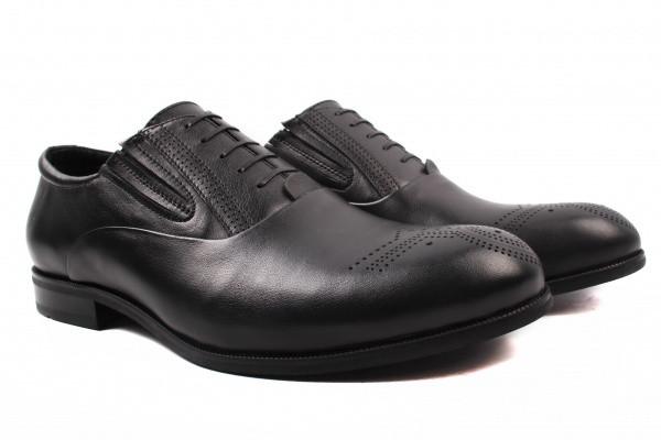 Туфли Davis натуральная кожа, цвет черный