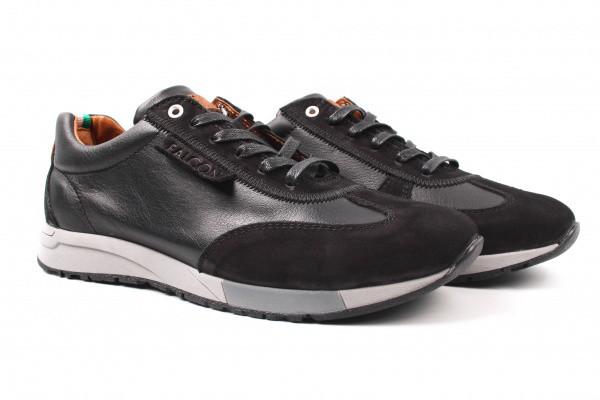 Туфли спорт Falcon натуральная кожа, цвет черный