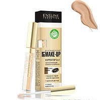 Жидкий корректор 2в1 с аппликатором Eveline  Art Scenic Professional Make-up Concealer 2 In 1 тон 05 Nude