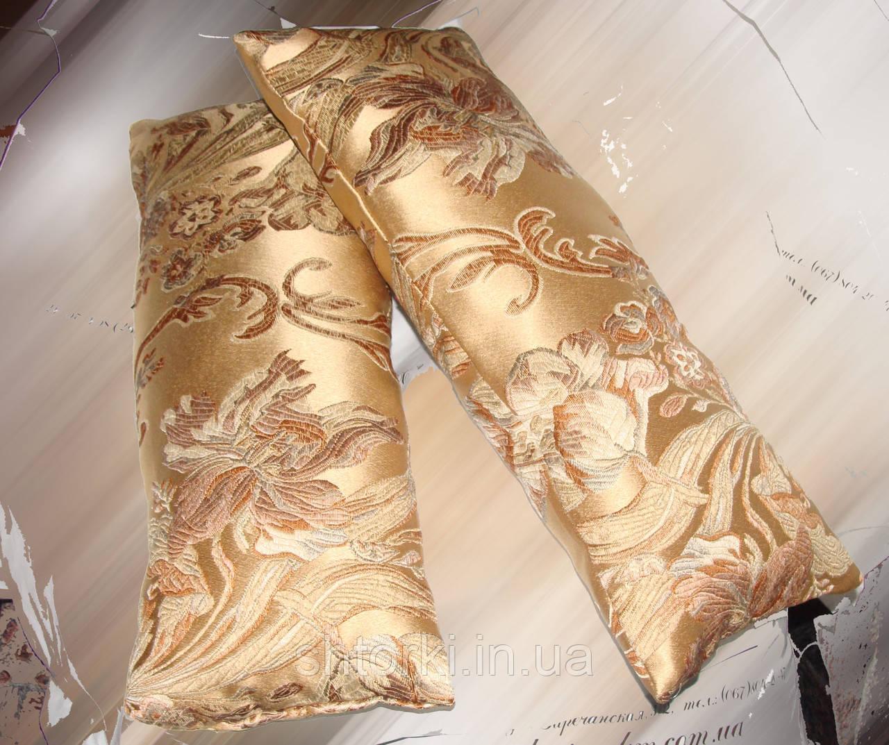 Комплект подушек золотистые завитки, 2шт 20х50см