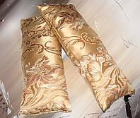 Комплект подушек золотистіе завитки, 2шт 20х50см