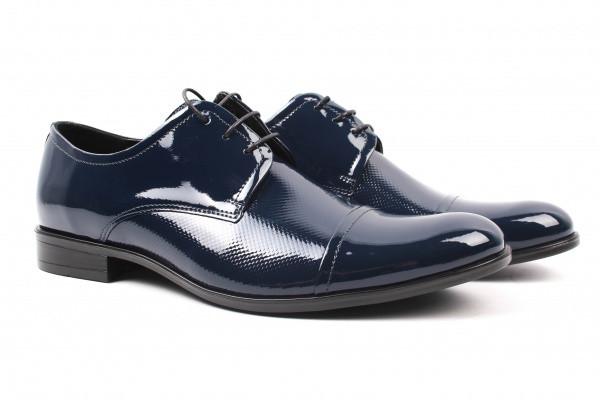 Туфли Conhpol лаковая натуральная кожа, цвет синий