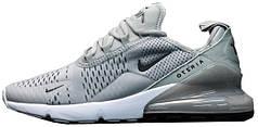 Кроссовки мужские Найк Nike Air Max 270 Grey/White. ТОП Реплика ААА класса.